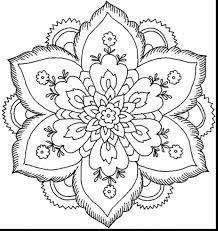 terrific flower mandala coloring pages with coloring pages for