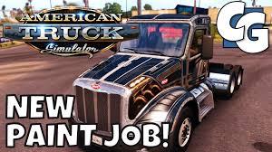 american truck simulator getting a paint job f150 sneak peek