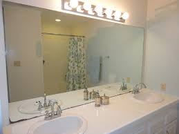 Cool Bathroom Mirror Ideas by Fancy Bathroom Mirror Edging Diy Frame Using Moulding So Cool I