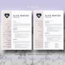 Best Nursing Resume Font by Resume Templates Hired Design Studio
