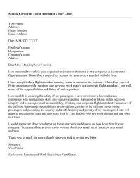 flight attendant cover letter sample