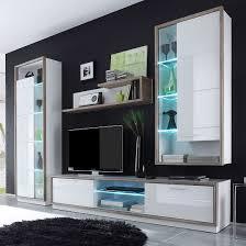 Wohnzimmerschrank Beleuchtung Wohnwand Bacara Iii 4 Teilig Inkl Beleuchtung Weiß