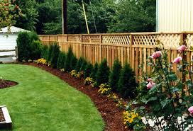 Fence Ideas For Garden Amazing Of Backyard Fence Landscaping Ideas Backyard Fence