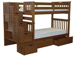 Twin Beds With Drawers Bunk Beds Tall Twin Stairway Expresso 2 Drawers 775