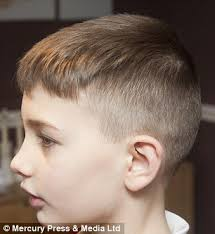boys haircuts short on side long on top schoolboy nine banned from class over his extreme short back