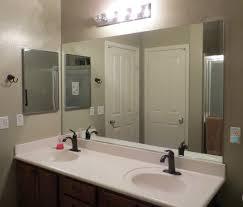 bathroom cabinets circle mirror frameless beveled bathroom