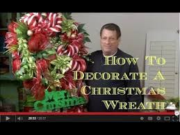 How To Decorate A Christmas Wreath How To Decorate An Artificial Christmas Wreath Youtube