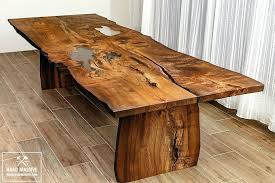 wood slab table legs live edge tables contemporary live edge dining table a details a