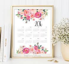 printable calendar 2016 etsy printable calendar 2016 yearly desk calendar poster classroom diy