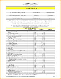Free Estimate Template 6 estimate template free itinerary template sample