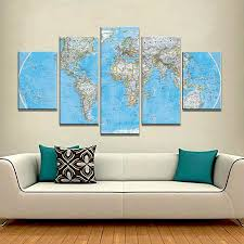 Canvas Map Of The World by Maps Wall Art Empire Prints