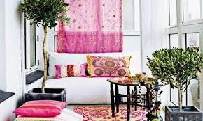 cool balcony ideas boho home decor pink and white italian home