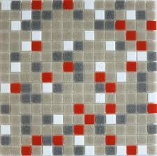 brio gray u0026 orange glass mosaic tile blue riff modwalls modern