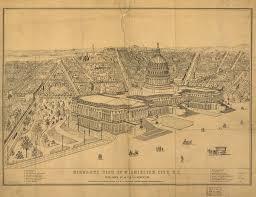 Bird View Map Vintage 8 X 12 Washington City D C Morrison George A 1872