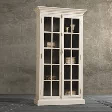 White Tall Bookcase Furniture White Wooden Tall Book Cabinet With Glas Door And Five