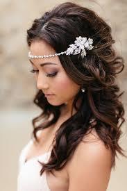 headband across forehead headband leaf design and wedding