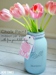 mothers day gifts ideas chalk paint jar vase s day gift idea here comes