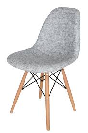 Replica Eames Dsw Eiffel Chair Textured Light Grey Fabric