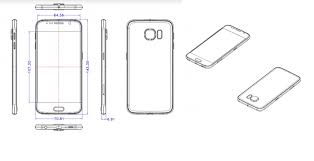 another samsung galaxy s6 sketch comes out shows dimensions