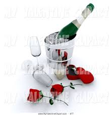 champagne glasses clipart valentine clipart of a couple of fancy red roses champagne