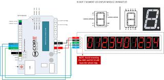 wiring max7219 on 8 bit 7 segment digital led tube display