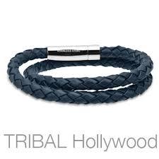 blue leather bracelet images Salvatore navy blue braided double wrap mens leather bracelet jpg