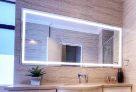 illuminated bathroom mirrors flush mount light wall mounted clear