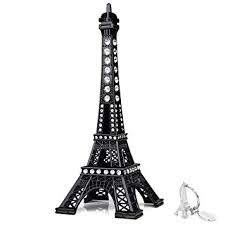 eiffel tower decorations sicohome eiffel tower cake topper 7 0inch black with