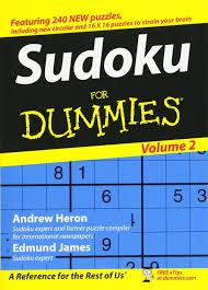 sudoku for dummies volume 2 andrew heron edmund james