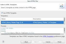 jboss tools generate a html5 mobile web application using the