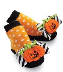 mud pie baby bow toe halloween cat pumpkin and hat socks 0