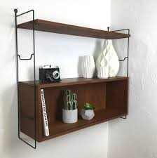Wall Shelves Design by Vintage Teak Wall Shelf By Nisse Strinning For String 1960s For