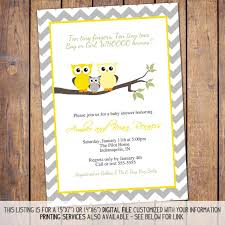 items similar to owl baby shower invitations gender neutral baby
