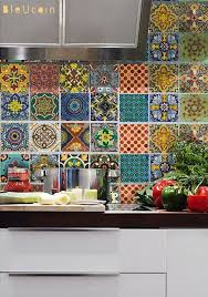 Tile Decals For Kitchen Backsplash Talavera Tile Stickers Kitchen Backsplash Tiles Kitchen