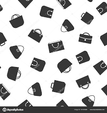 flat white color shopping bag icons white color and flat style isolated on black