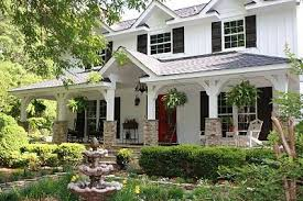 houses with front porches white house red front doors big front porch this is the house