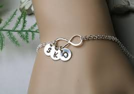 bracelet with initials infinity initial bracelet ithree initial charms family initials