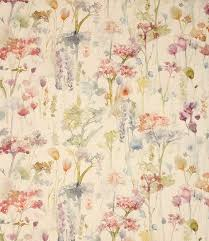 Duck Egg Blue Floral Curtains Contemporary Fabric Just Fabrics