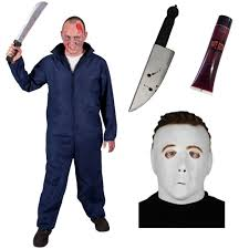 michael myers costume mens michael myers costume with official licensed mask deluxe h20