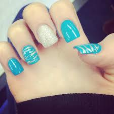 blue and silver zebra nail design nails pinterest zebra nail