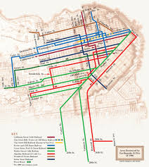 san francisco map cable car a forgotten plot to ditch cable cars for wacky open air buses