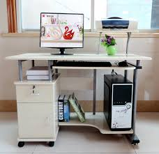bureau imprimante 1 1 mètres ordinateur de bureau bureau avec support d imprimante