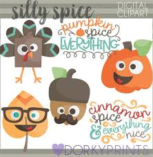 silly thanksgiving clipart pumpkin spice clipart silly turkey
