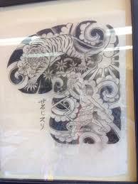 original sailor jerry drawing tiger warrior chest 1 2
