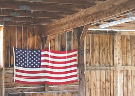 Flag Hanging Free Images Wood Barn Shed Banner Usa American Flag