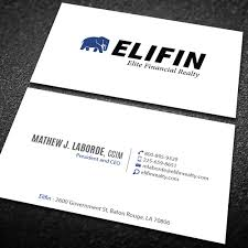 Business Card For Ceo Design A Professional Business Card For A Specialty Real Estate
