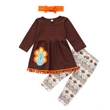 toddler baby clothes set autumn brown sleeve