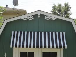 Striped Awning General Splendour How To My 10 Shed Awning Tutorial