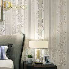 Simple European Living Room Design aliexpress com buy simple european style leaf striped damask