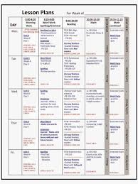 grade common core weekly lesson plan template w drop kindergarten